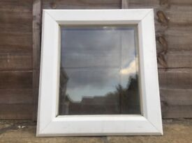 UPVC DOUBLE GLAZED SMALL BATHROOM WINDOW CLEAR GLASS 52 CM WIDE - can deliver