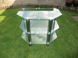 Glass & Chrome TV stand for sale - £20.00