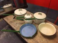 Vintage Judge Ware Set of 4 Saucepans and 2 Bowls