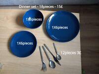 Crockery , Plates, bowls, Cutlery