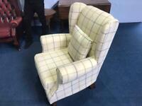 Top quality wing chair in tweed