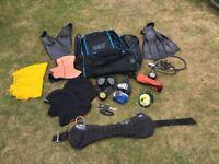 A mixed bag of dive gear