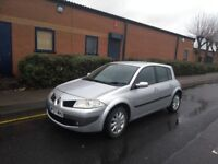 2007 RENAULT MEGANE 1.4 DYNAMIQUE 5 DOOR SILVER, 68000 MILES, DRIVES ABSOLUTELY GREAT