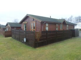 Wessex Milbourne log cabin for sale at Percy Wood Country Park near Alnwick in Northumberland