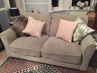 Grey 3 Seater Sofa Nearly New with 4 Year Warranty
