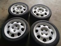 Peugeot 205 1.9 Gti alloys and 4 new tyres fit 106 saxo ford
