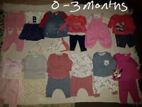 Baby girls bundle tiny baby to 3 months