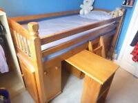 Cabin Bed - solid pine construction