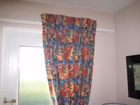 curtains long hand made