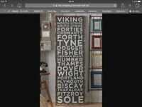 Wanted! - Shipping Forecast Wall Art