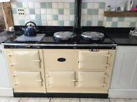 AGA: Fully working 4-oven Aga (oil) in Cream