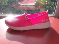 Adidas Women's Running Trainers Size 8.5 Neo Lite Racer Slip-On Pink
