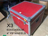 flight cases x6 Trunks & Rack Heavy Duty Used