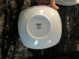 White porcelain M&S 12 pieces dinner set