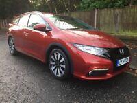 Honda Civic 1.8 i-VTEC SE Plus Tourer 5dr Auto 2014 (14 Reg) Price £11350 Finance Arranged Inc PCP