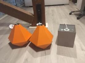 Three light/lamp shades