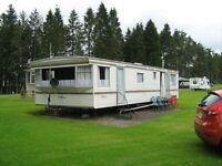 Static / residential caravan on the Gart caravan park Callander