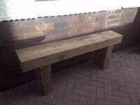 Garden Bench made from Sleeper