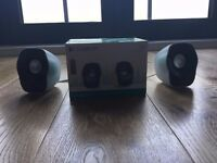 Logitech speakers, boxed, used only once