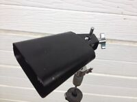 Black anodised cow bell for drum kit