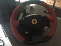 Thrust master Ferrari steering wheel for Xbox game