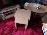 Furniture- nest of tables, tv cabinet and table