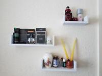 3 Mini Floating Shelves.