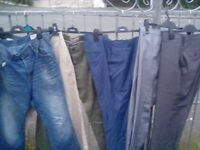 Six mixed pairs jeans chinos and trouser all 34 rl