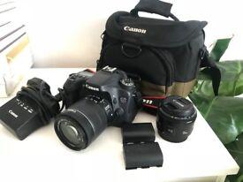 Canon 70D Camera, 50mm Lens & Accessories