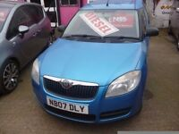 Skoda ROOMSTER,1422 cc 5 door hatchback,1 previous owner,clean tidy car,runs and drives well,NB07DLY