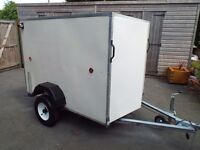 QUALITY BOX TRAILER 6FT LONG 4FT WIDE AND 4FT HIGH 750KG GROSS WEIGHT