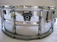 "Carlton Classic NOB snare drum 14 x 6 1/2"" - England - Vintage - mODDED"