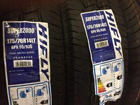 Pair of Brand New Van Tyres 175/70R14