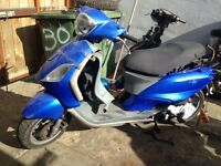 Piaggio fly 50 cc with running engine spares or repairs