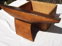 OLD SOLID PINE POND YACHT HULL