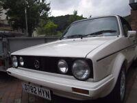 Volkswagen Golf 1.8 GTI Cabriolet Mk1 D Reg 1987 Part Finished