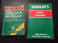 Italian grammar and Collins Italian dictionary