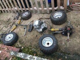 Bossen cheeta 250cc twin cylinder quad unfinished project