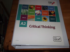 Critical Thinking AS & A2 Level course materials: 2 large files and 4 books accompanying the course