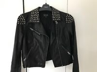 TOPSHOP leather studded jacket