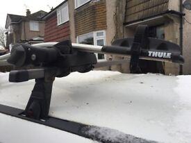 Thule bike bars 591 pair lockable roof bars