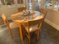 Oak Table & 4 chairs (Laura Ashley)