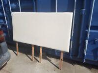 Cream leather super king size headboard