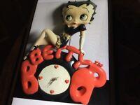 Betty boop clock