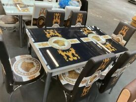 BEST QUALITY💖TURKISH 4 & 6 CHAIRS DINING TABLE SET