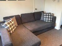 Ikea Manstad Corner Sofa bed Navy Blue with Storage