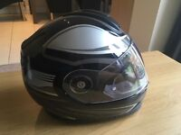 Schuberth S2 Sport (XL) motorcycle helmet with SRC system fitted.