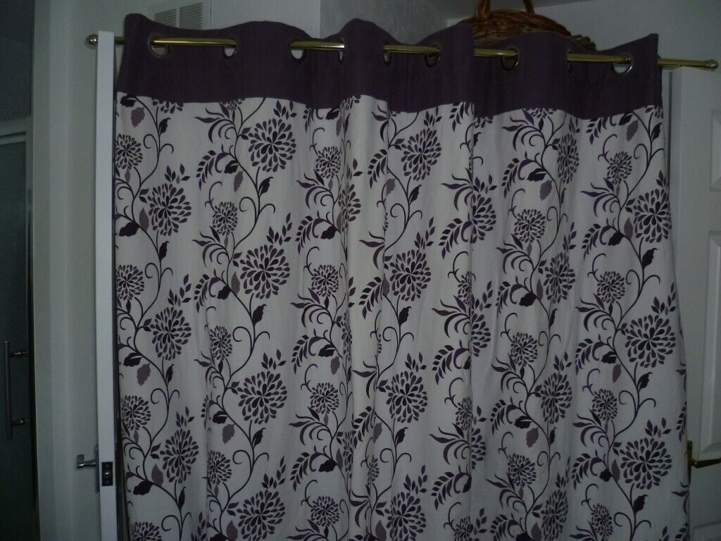 Curtains 90 Ins Wide X Long Lined And Washable Dunelm