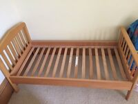 Mamas and Papas Toddler/Childs Bed with Matress