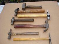7 Assorted Vintage Hammers